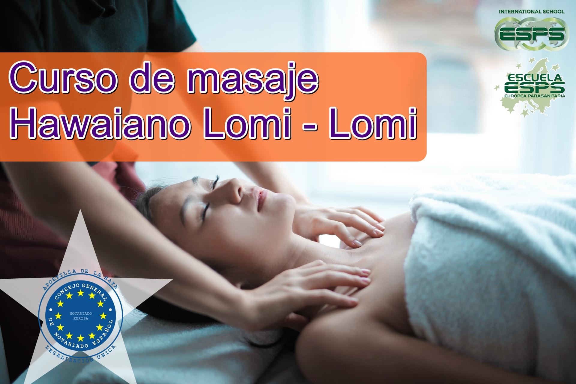 curso de masaje hawaiano lomi lomi esps en Lugo
