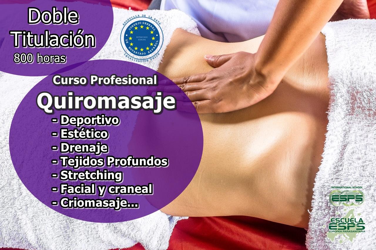 curso de quiromasaje profesional esps en Lugo